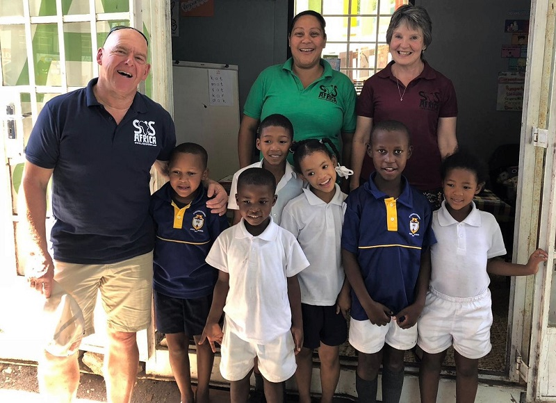 SOS Africa Trustee Richard Long and partner Heather visit SOS Africa's Western Cape Education Projects